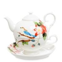 Чайный набор из фарфора «Райская птица» JS-27 (Pavone)