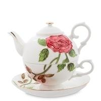 Чайный набор из фарфора «Золотая Роза Рафаэлло» JS-16 (Pavone)