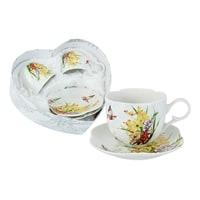 Набор из фарфора: 2 чашки и 2 блюдца «Лилии»