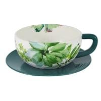Чашка с блюдцем для завтрака «Флора»