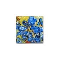 Тарелка квадратная «Ирисы» (Ван Гог)