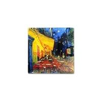 Тарелка квадратная «Ночная терраса кафе» (Ван Гог)