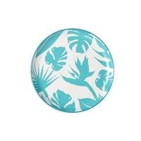 Тарелка обеденная из фарфора «Парадиз» (голубая)