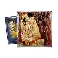 Тарелка квадратная «Поцелуй» (Густав Климт)