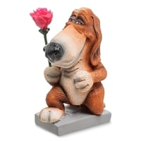Статуэтка Собака Бассет-хаунд «Цветы для прекрасной Леди» RV-910 (W. Stratford)
