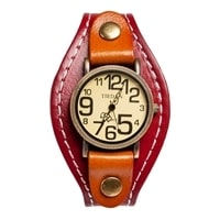 "Y-CH051 Браслет-часы ""Классика"" красн/коричн"