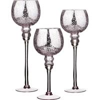 Комплект из 3-х стеклянных интерьерных ваз M-1851015