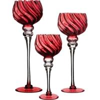 Комплект из 3-х стеклянных интерьерных ваз M-1851027