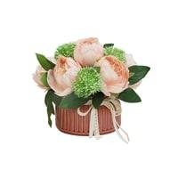 Декоративные цветы «Розы розовые» в керамической вазе