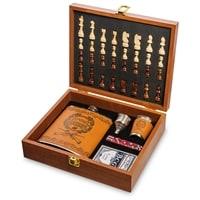 Подарочный набор фляжка 500 мл с шахматами «Лучший охотник» GT-45