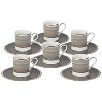 Набор для кофе из костяного фарфора на 6 персон «Мокко»