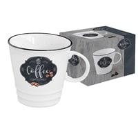 Кружка из костяного фарфора «Кухня в стиле Ретро» (кофе) в подарочной упаковке
