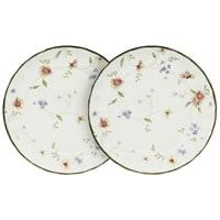 Набор из 2-х обеденных тарелок из фарфора «Флёр»