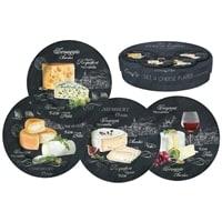 Набор из 4-х десертных тарелок из фарфора «Мир сыров»