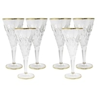 Набор из 6 стеклянных бокалов для вина «Энигма»
