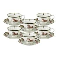 Чайный набор из костяного фарфора на 6 персон «Эдинбург» (Emily)