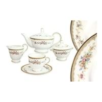 Чайный сервиз из костяного фарфора на 6 персон «Наслаждение»