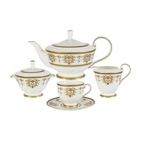 Чайный сервиз из костяного фарфора на 6 персон «Тиара Голд»