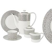 Чайный сервиз из костяного фарфора на 6 персон «Серебряный дворец»