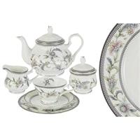 Чайный сервиз из костяного фарфора на 6 персон «Сад цветов»