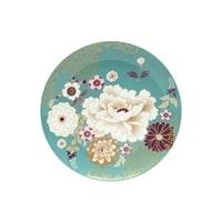 Тарелка из костяного фарфора «Кимоно» (бирюза) в подарочной упаковке