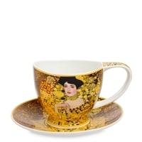 Чашка с блюдцем из костяного фарфора «Адель Блох-Бауэр» (Густав Климт)
