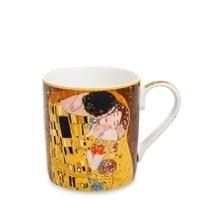Кружка из костяного фарфора «Поцелуй» (Густав Климт)