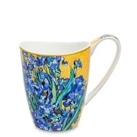 Кружка из костяного фарфора «Ирисы» (Ван Гог)
