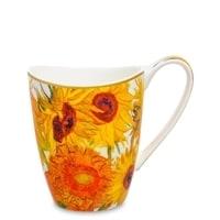 Кружка из костяного фарфора «Подсолнухи» (Ван Гог)