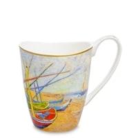 Кружка из костяного фарфора «Лодки в порту Сен Мари» (Ван Гог)