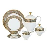 Чайный сервиз из фарфора на 12 персон «Розовый берег»