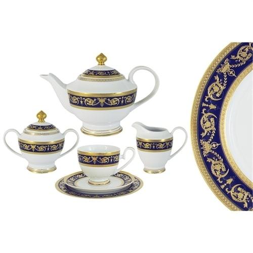 Чайный сервиз из фарфора «Императорский» (кобальт)