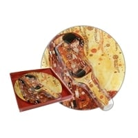 Тарелка для торта с лопаткой «Поцелуй» (Густав Климт)