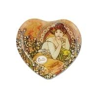 Тарелка в форме сердца «Топаз» (Альфонс Муха)