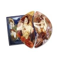 Набор из 2-х тарелок «Зима/Весна» (Альфонс Муха)