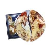 Набор из 2-х тарелок «Лето/Осень» (Альфонс Муха)