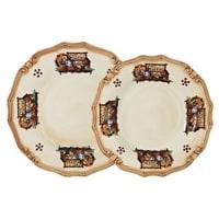 Набор тарелок: суповая и обеденная «Садовые Цветы»
