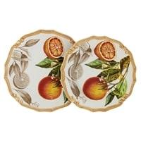 Набор тарелок: суповая и обеденная «Апельсины»