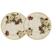Набор из 2-х десертных тарелок «Роза и малина»