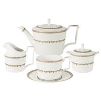 Чайный сервиз из костяного фарфора на 6 персон «Золотой замок»