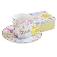 Чашка с блюдцем из фарфора «Любовь» в подарочной упаковке
