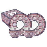 Чайный набор из фарфора на 2 персоны «Мавритания» в подарочной упаковке