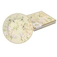Тарелка десертная из костяного фарфора «Дворцовый парк» (бежевая) в подарочной упаковке