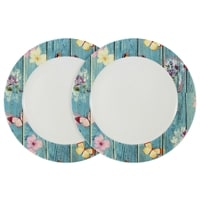 Набор из 2-х обеденных тарелок из костяного фарфора «Фантазия»