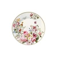 Тарелка десертная из костяного фарфора «Цветочный карнавал» (светлая)