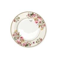 Тарелка обеденная из костяного фарфора «Цветочный карнавал» (светлая)