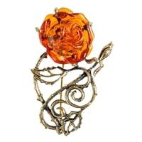 Брошь «Розочка Ажурная» AM-1631