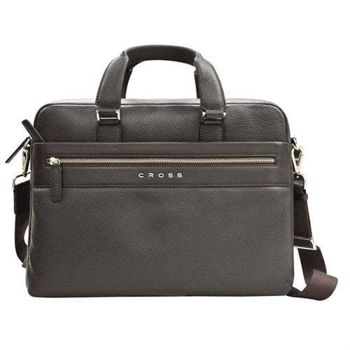 Портфель тонкий Cross Genuine Leather Briefcase Nueva FV Brown