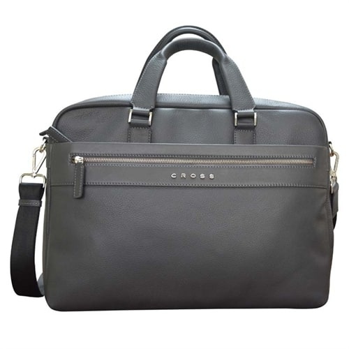 Портфель тонкий Cross Genuine Leather Briefcase Nueva FV Gray
