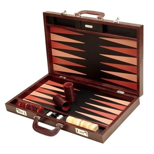 Нарды Renzo Romagnoli Brown Thesius Backgammon Case